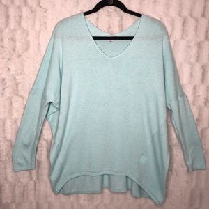 Anthropologie On the Road Blue Dolman Sweater